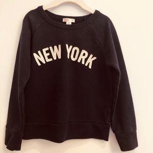 J crew girls navy sweater